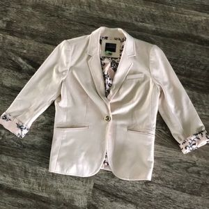 Pale pink blazer from the Limited. Size small.
